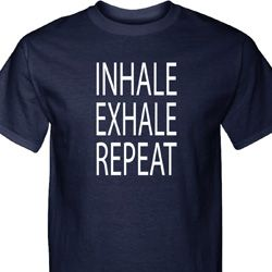 Yoga Inhale Exhale Repeat Mens Tall Shirt