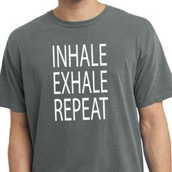 Yoga Inhale Exhale Repeat Pigment Dyed Shirt