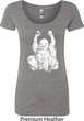 Yoga Laughing Buddha Ladies Scoop Neck Shirt