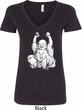 Yoga Laughing Buddha Ladies V-Neck Shirt