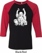 Yoga Laughing Buddha Mens Raglan Shirt
