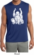 Yoga Laughing Buddha Mens Sleeveless Moisture Wicking Shirt