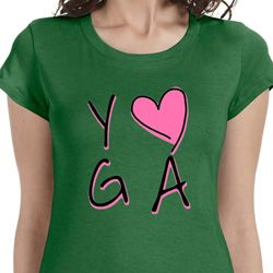 Yoga Love Ladies Yoga Shirts