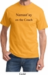 Yoga Namastay Home on the Couch Adult Shirt