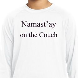 Yoga Namastay Home on the Couch Kids Dry Wicking Long Sleeve Shirt