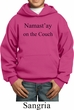 Yoga Namastay Home on the Couch Kids Hoodie