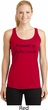 Yoga Namastay Home on the Couch Ladies Moisture Wicking Racerback Tank