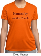 Yoga Namastay Home on the Couch Ladies Moisture Wicking Shirt