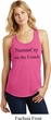 Yoga Namastay Home on the Couch Ladies Racerback Tank Top
