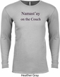 Yoga Namastay Home on the Couch Long Sleeve Thermal Shirt