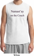 Yoga Namastay Home on the Couch Mens Muscle Shirt