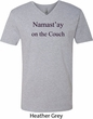 Yoga Namastay Home on the Couch Mens V-Neck Shirt