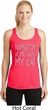 Yoga Namastay Home with My Cat Ladies Dry Wicking Racerback Tank Top