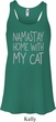 Yoga Namastay Home with My Cat Ladies Flowy Racerback Tanktop