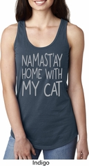 Yoga Namastay Home with My Cat Ladies Ideal Tank Top
