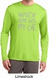 Yoga Namastay Home with My Cat Mens Dry Wicking Long Sleeve Shirt