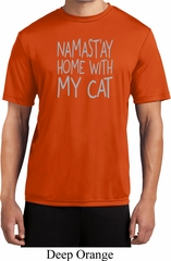 Yoga Namastay Home with My Cat Mens Moisture Wicking Shirt