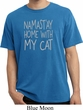 Yoga Namastay Home with My Cat Pigment Dyed Shirt