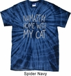 Yoga Namastay Home with My Cat Spider Tie Dye Shirt