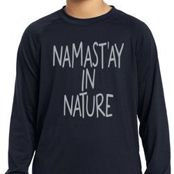 Yoga Namastay in Nature Kids Dry Wicking Long Sleeve Shirt