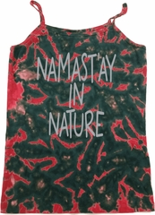 Yoga Namastay in Nature Ladies Tie Dye Camisole Tank Top
