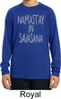 Yoga Namastay in Savasana Kids Dry Wicking Long Sleeve Shirt
