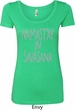 Yoga Namastay in Savasana Ladies Scoop Neck Shirt