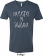 Yoga Namastay in Savasana Mens V-Neck Shirt