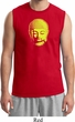Yoga Neon Yellow Buddha Mens Muscle Shirt