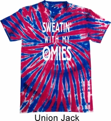 Yoga Omies Patriotic Tie Dye Shirt