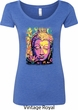 Yoga Psychedelic Buddha Ladies Scoop Neck Shirt