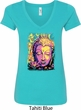Yoga Psychedelic Buddha Ladies V-Neck Shirt