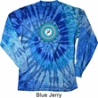 Yoga Shirt Blue Vishuddha Long Sleeve Tie Dye Tee T-shirt