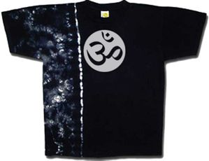 Yoga Shirt OM Aum Meditation X-Ray Tie Dye Tee Shirt