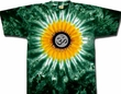 Yoga Shirt OM Symbol Meditation Sunflower Tie Dye Tee Shirt
