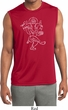 Yoga Sketch Ganesha White Print Dry Wicking Sleeveless Shirt