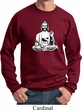 Yoga Sweatshirt At Peace Buddha Sweat Shirt