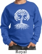 Yoga White Celtic Tree Kids Sweatshirt