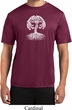 Yoga White Celtic Tree Mens Moisture Wicking Shirt