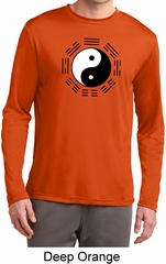 Yoga Ying Yang Trigrams Mens Moisture Wicking Long Sleeve Shirt