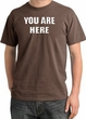 YOU ARE HERE Funny Novelty Adult Pigment Dyed T-Shirt - Chestnut