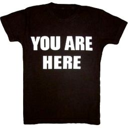 YOU ARE HERE Funny Novelty Adult T-shirt