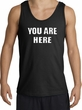 YOU ARE HERE Funny Novelty Adult Tanktop - Black