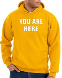 You Are Here Hoodie Gold Hoody