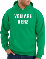 You Are Here Hoodie Kelly Green