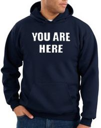 You Are Here Hoodie Navy Hoody