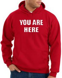 You Are Here Hoodie Red Hoody