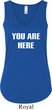 You Are Here Ladies Flowy V-neck Tank Top