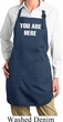 You Are Here Ladies Full Length Apron with Pockets