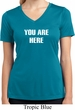 You Are Here Ladies Moisture Wicking V-neck Shirt
